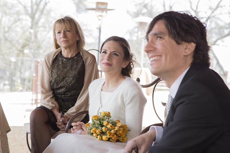 Boda en Finca Prados Moros (El Escorial) Emoción de los novios en la ceremonia